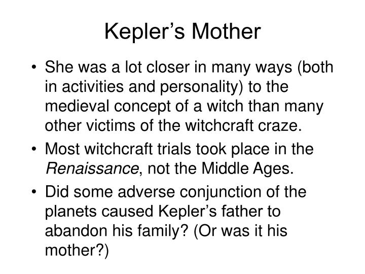 Kepler's Mother