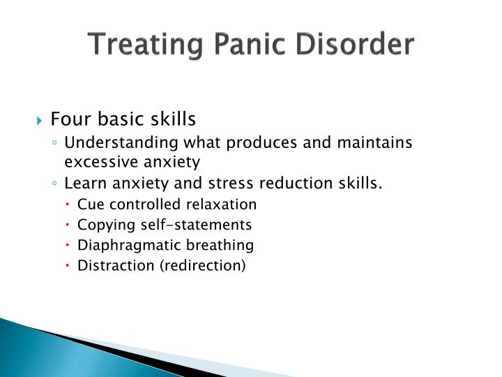 Treating Panic Disorder