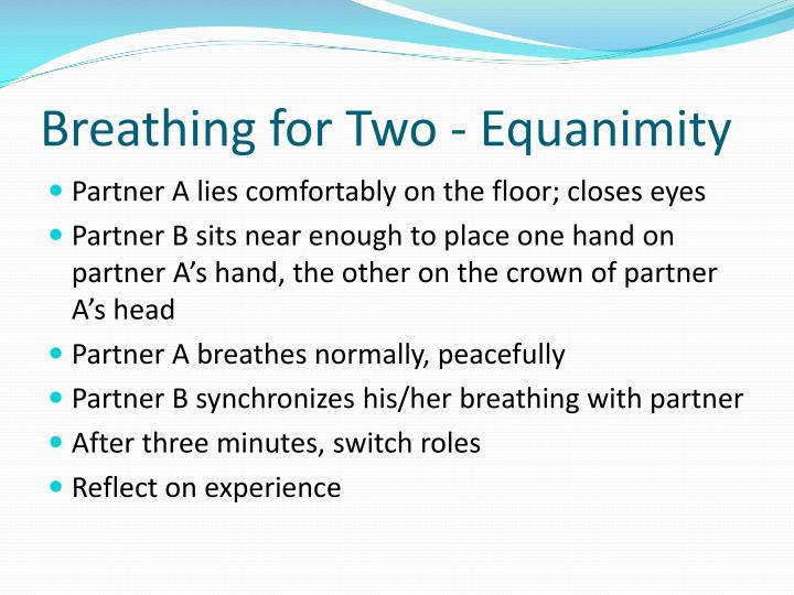 Breathing for Two - Equanimity