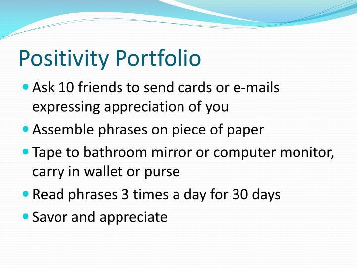 Positivity Portfolio