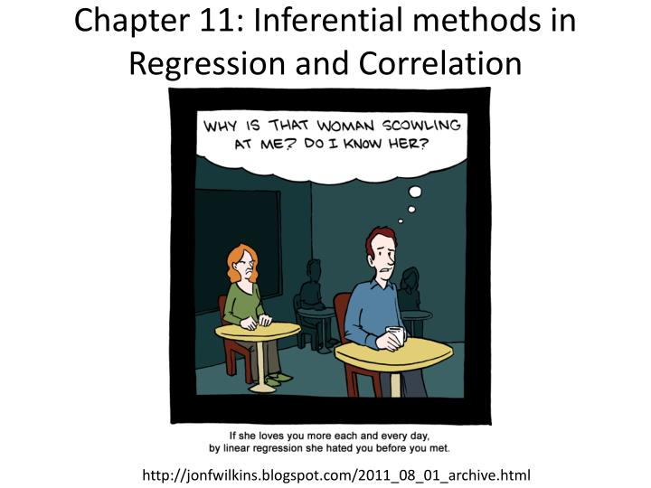 Chapter 11: Inferential methods in Regression and Correlation