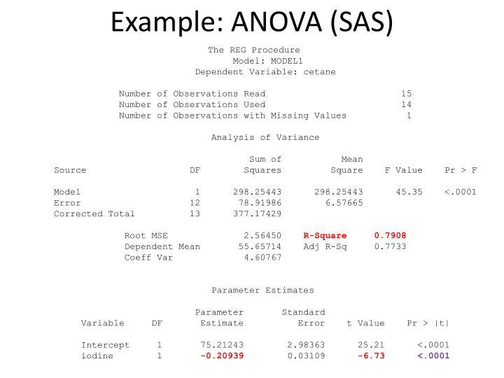 Example: ANOVA