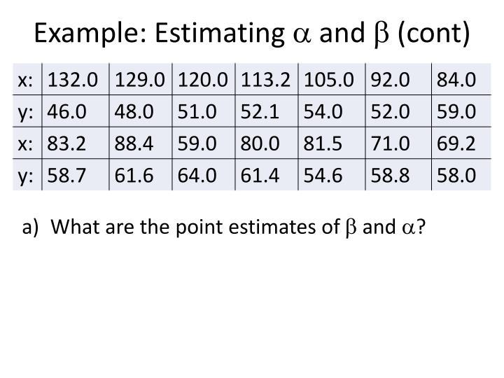 Example: Estimating