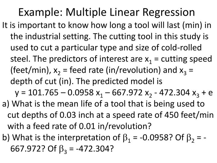 Example: Multiple Linear Regression