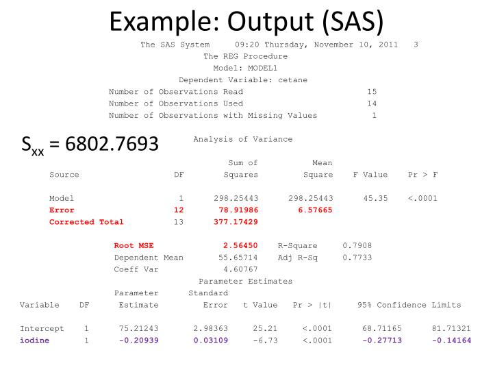 Example: Output