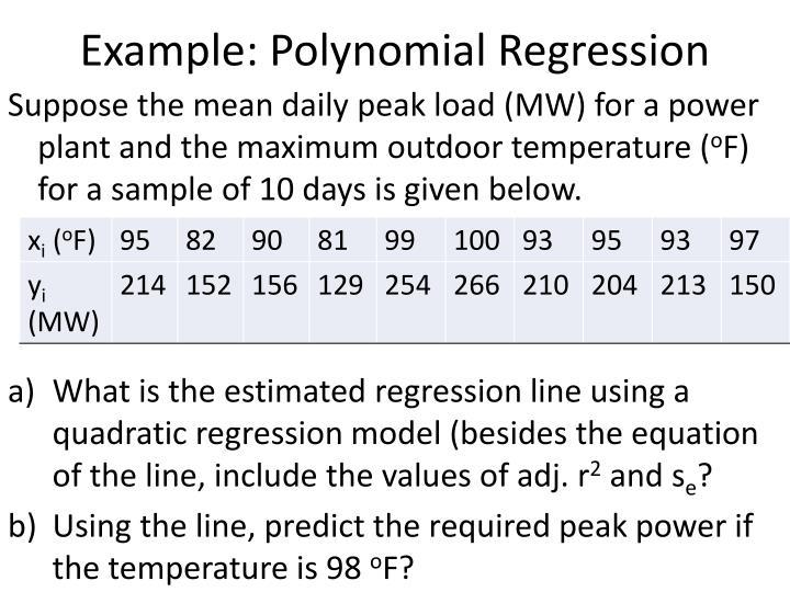 Example: Polynomial Regression