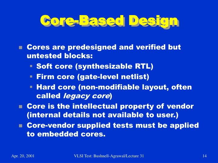 Core-Based Design