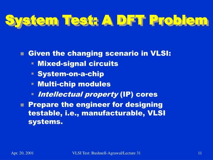 System Test: A DFT Problem