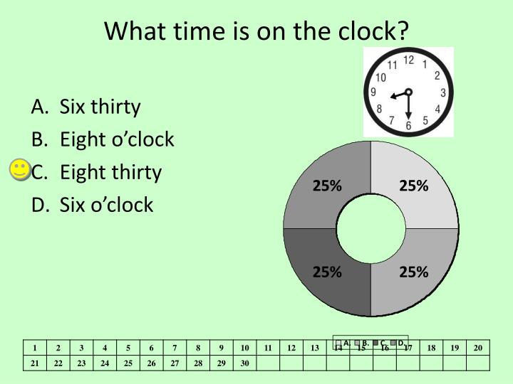 What time is on the clock?