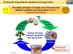 closing the loop between sanitation and agriculture