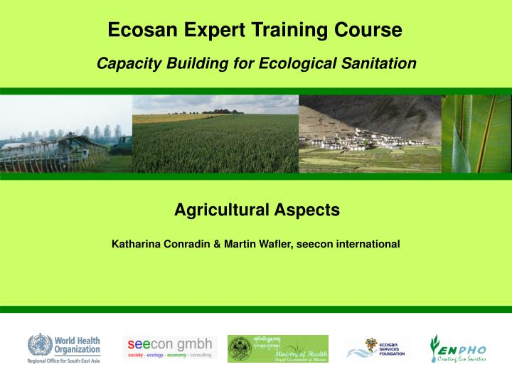 Ecosan Expert Training Course
