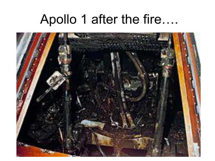 Apollo 1 after the fire….