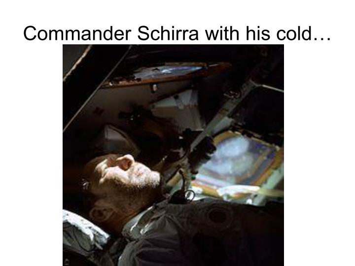 Commander Schirra with his cold…