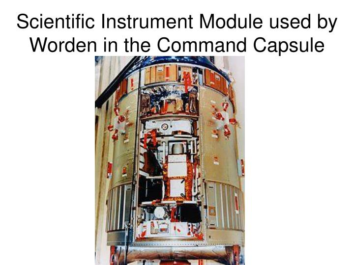 Scientific Instrument Module used by Worden in the Command Capsule