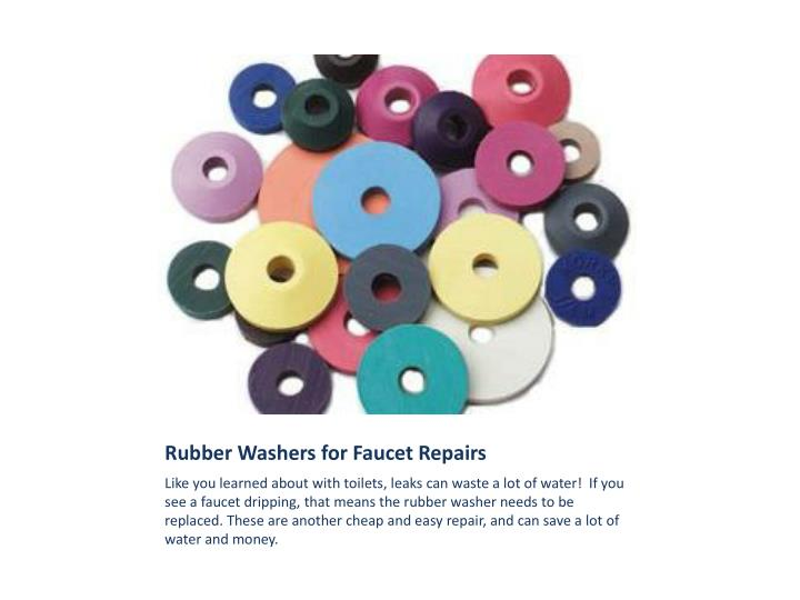 Rubber Washers for Faucet Repairs