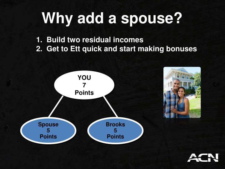 Why add a spouse?