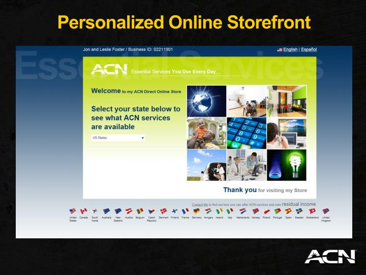 Personalized Online Storefront