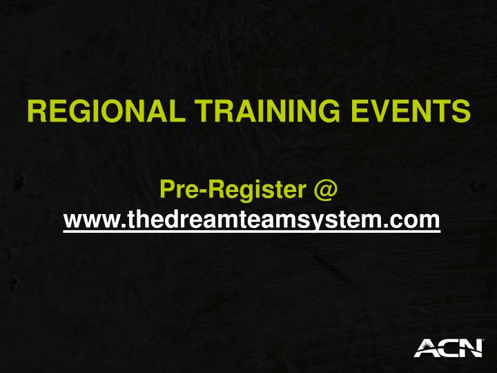 REGIONAL TRAINING EVENTS
