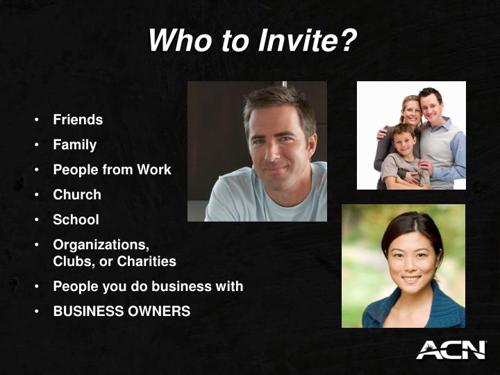 Who to Invite?