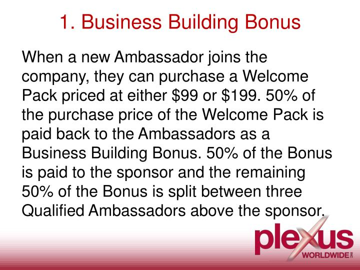 1 business building bonus
