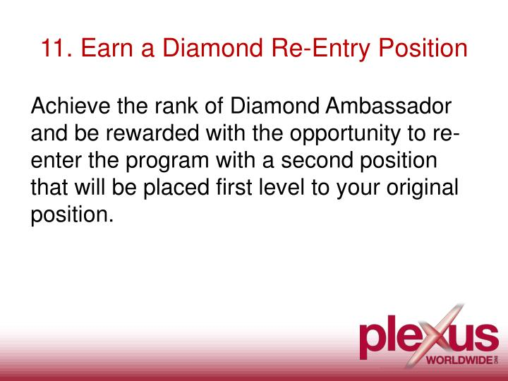 11. Earn a Diamond Re-Entry Position