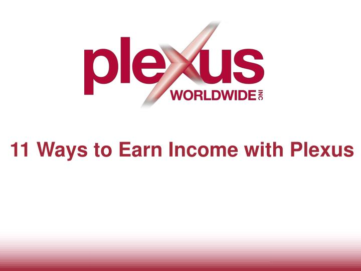 11 ways to earn income with plexus