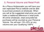 5 personal volume and retail profit