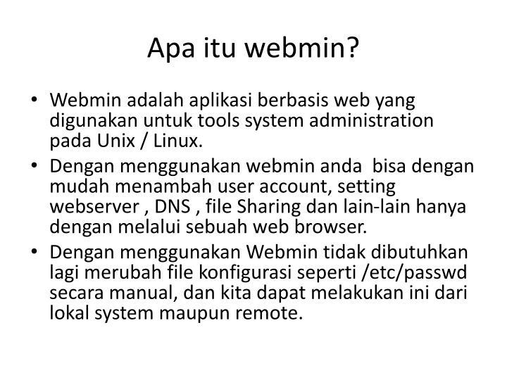 Apa itu webmin?