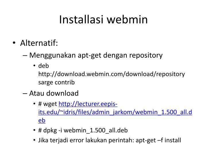 Installasi webmin