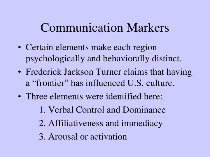 Communication Markers