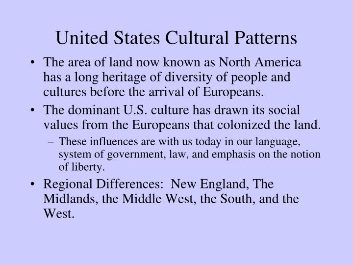 United States Cultural Patterns