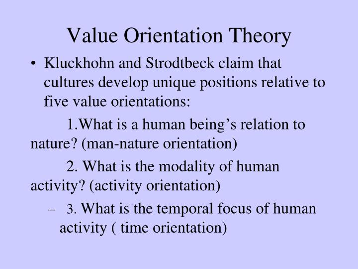 Value Orientation Theory