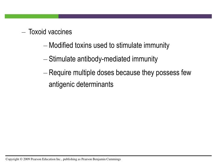 Toxoid vaccines
