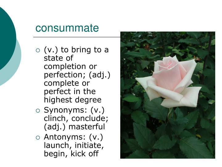 consummate