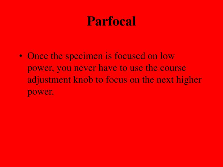 Parfocal