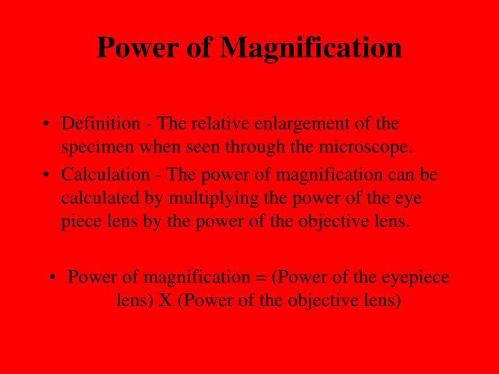 Power of Magnification