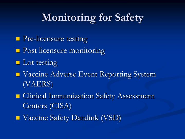 Monitoring for Safety