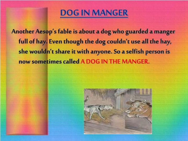 DOG IN MANGER