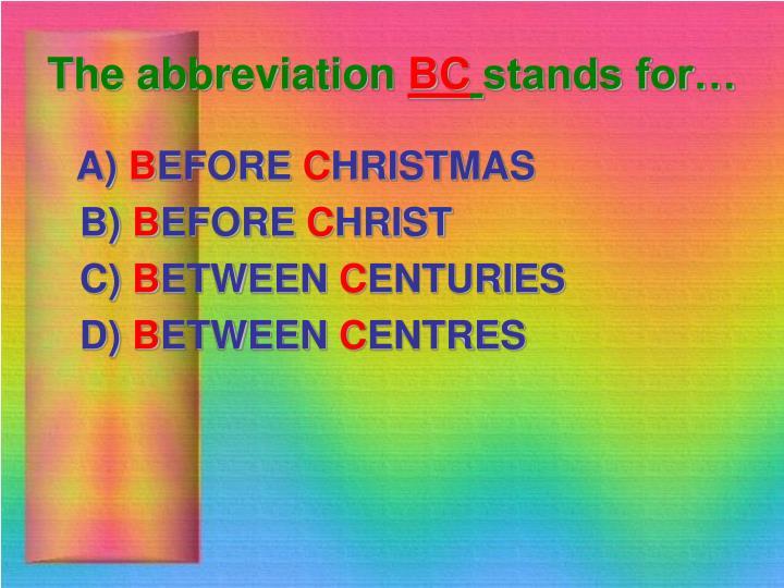 The abbreviation