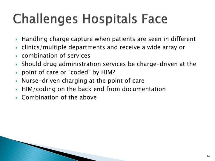 Challenges Hospitals Face