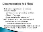 documentation red flags
