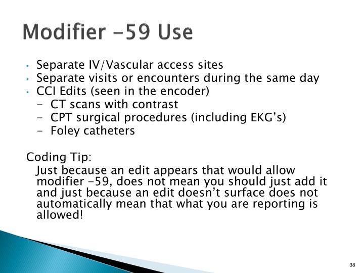 Modifier -59 Use