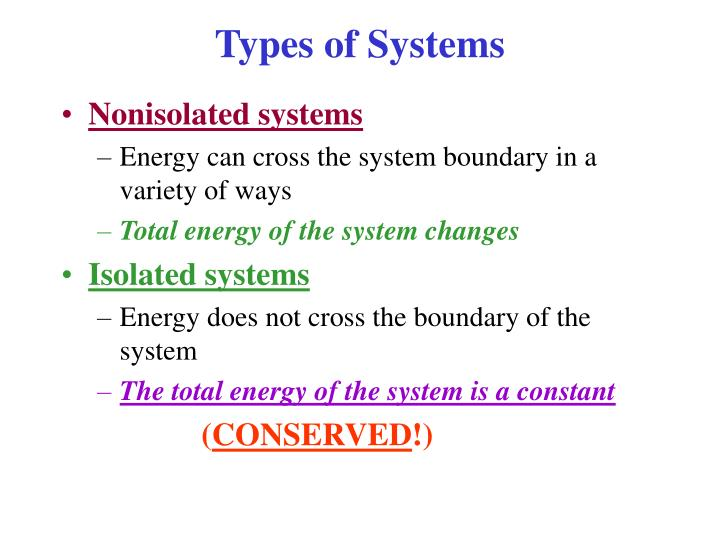 Types of systems