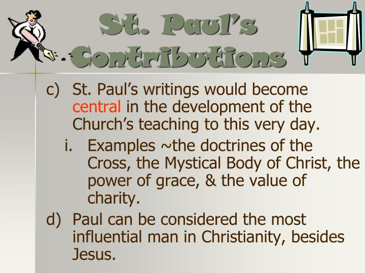 St. Paul's Contributions