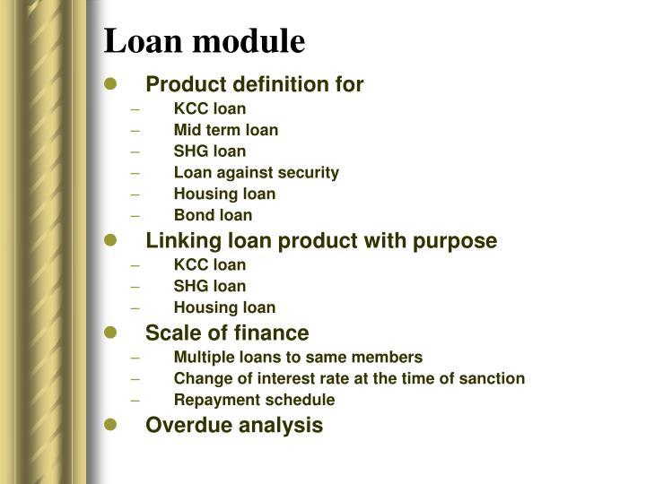 Loan module