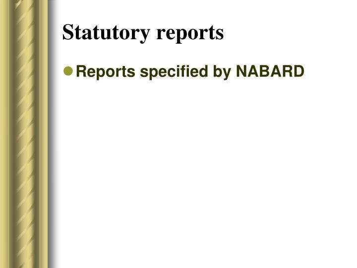 Statutory reports