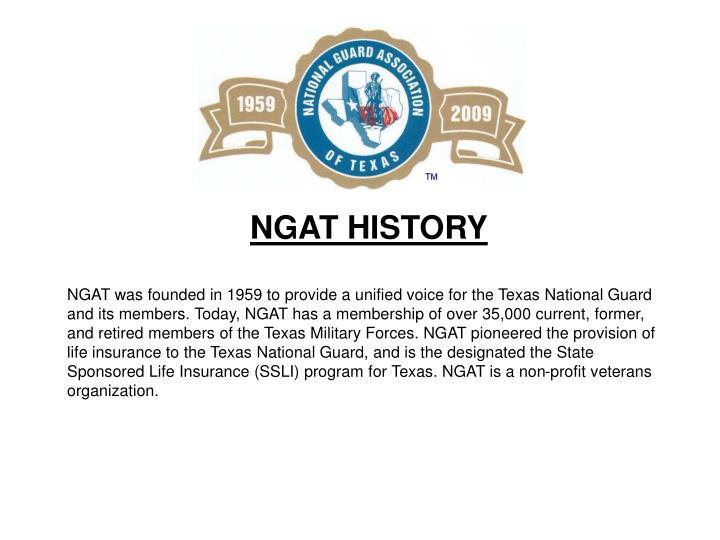 NGAT HISTORY