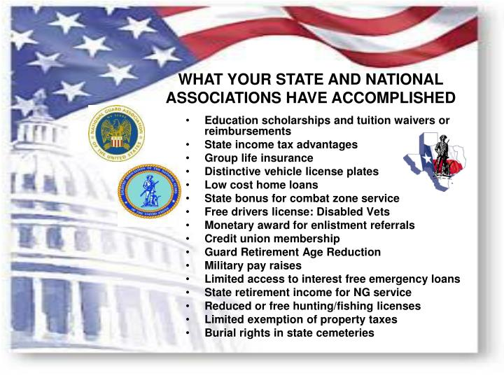 WHAT YOUR STATE AND NATIONAL
