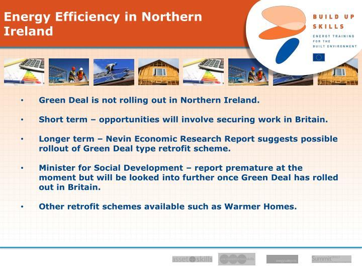 Energy Efficiency in Northern