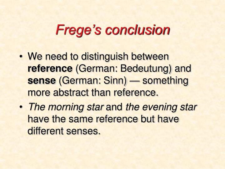 Frege's conclusion